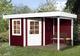 Blokhut   Designhuis 213A Gr.2   298 x 456   WEKA   Zweeds rood