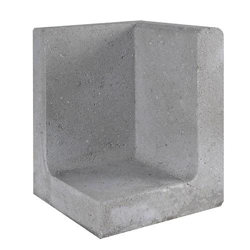 Gardenlux | L-element | Hoek | 40 x 40 x 60 (h) cm | Grijs