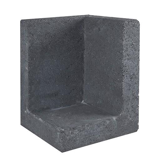 Gardenlux | L-element | Hoek | 40 x 40 x 60 (h) cm | Zwart