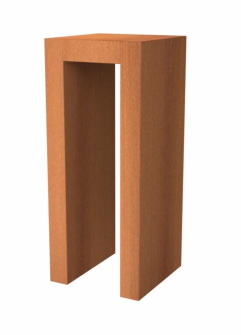 Adezz | Onbehandeld staal U- sokkel | 50 x 50 x 120 cm