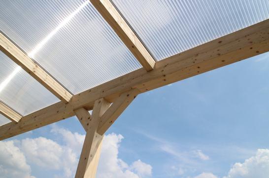 Westwood   Douglas terrasoverkapping   Comfort +   Helder   Antraciet   606x400   Muuraanbouw