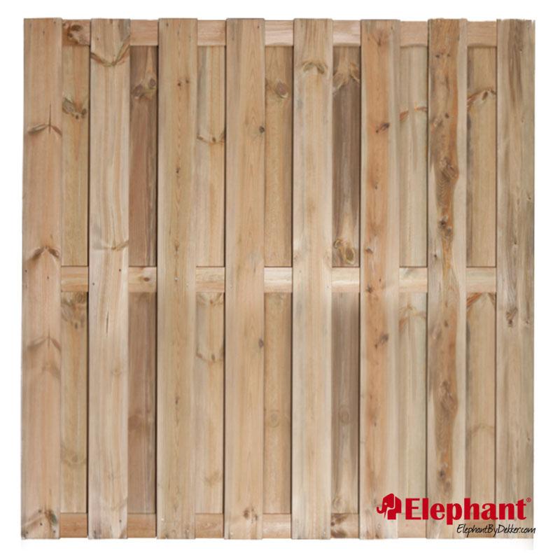 Elephant   Finch tuinscherm   180x180 cm   Grenen