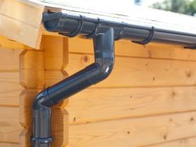 S-Lon   PVC Dakgoot Zadeldak GD16   Antraciet   Verlengstuk 175 cm