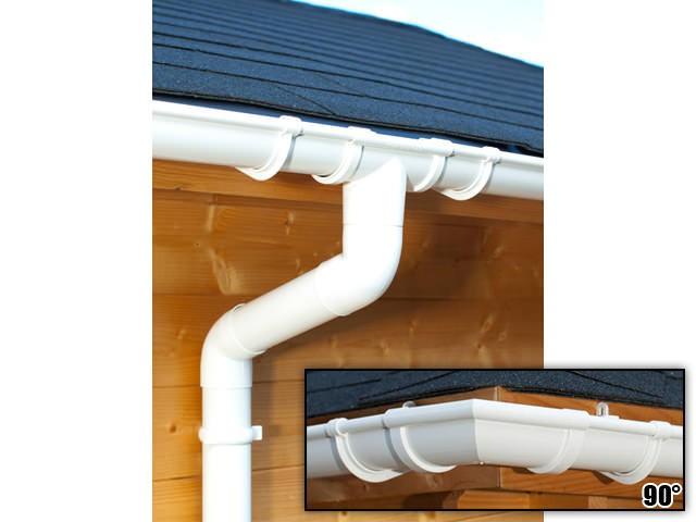 S-Lon   PVC Dakgoot Vierhoekig dak GD16   Wit   14-17.5 m