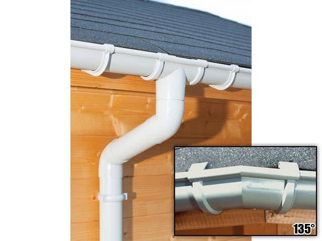 S-Lon   PVC Dakgoot Achthoekig dak GD16   Grijs   14-19.25 m