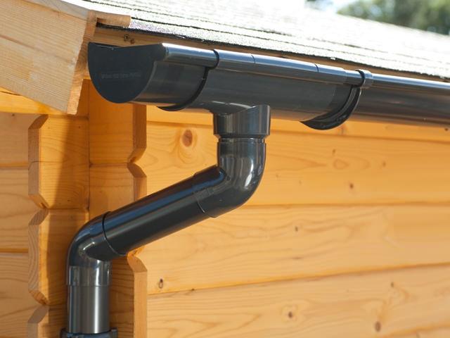 S-Lon   PVC Dakgoot Lessenaarsdak EXTRA100   Antraciet   350-525 cm