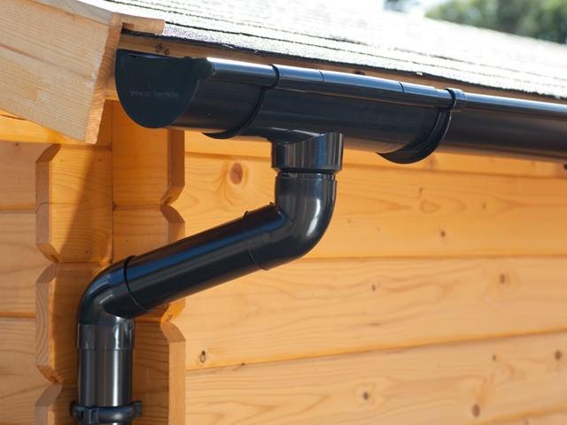 S-Lon   PVC Dakgoot Lessenaarsdak EXTRA100   Zwart   525-700 cm