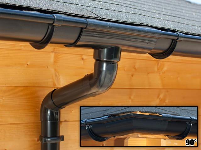 S-Lon   PVC Dakgoot Vierhoekig dak EXTRA100   Zwart   17.5-21 m