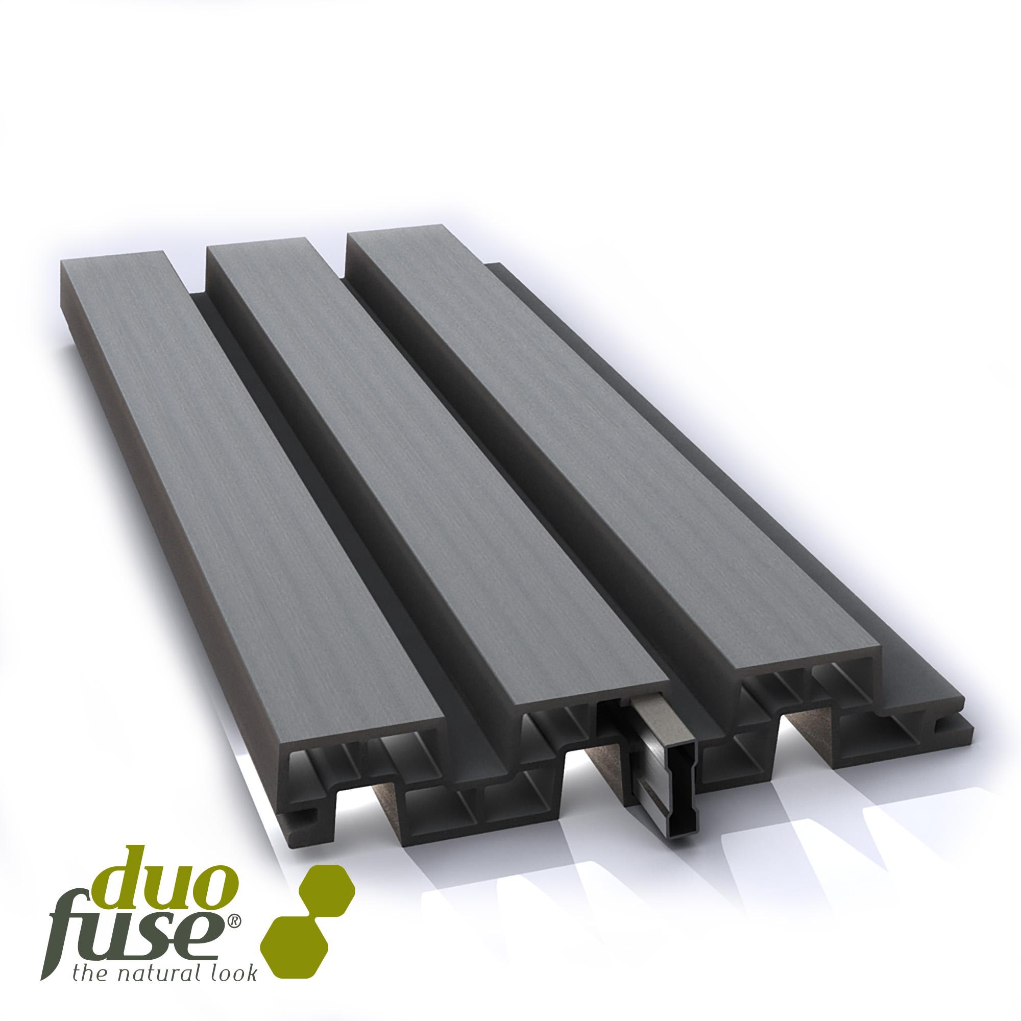 Duofuse | Lamellenafsluiting plank | 200cm | Tropical Brown