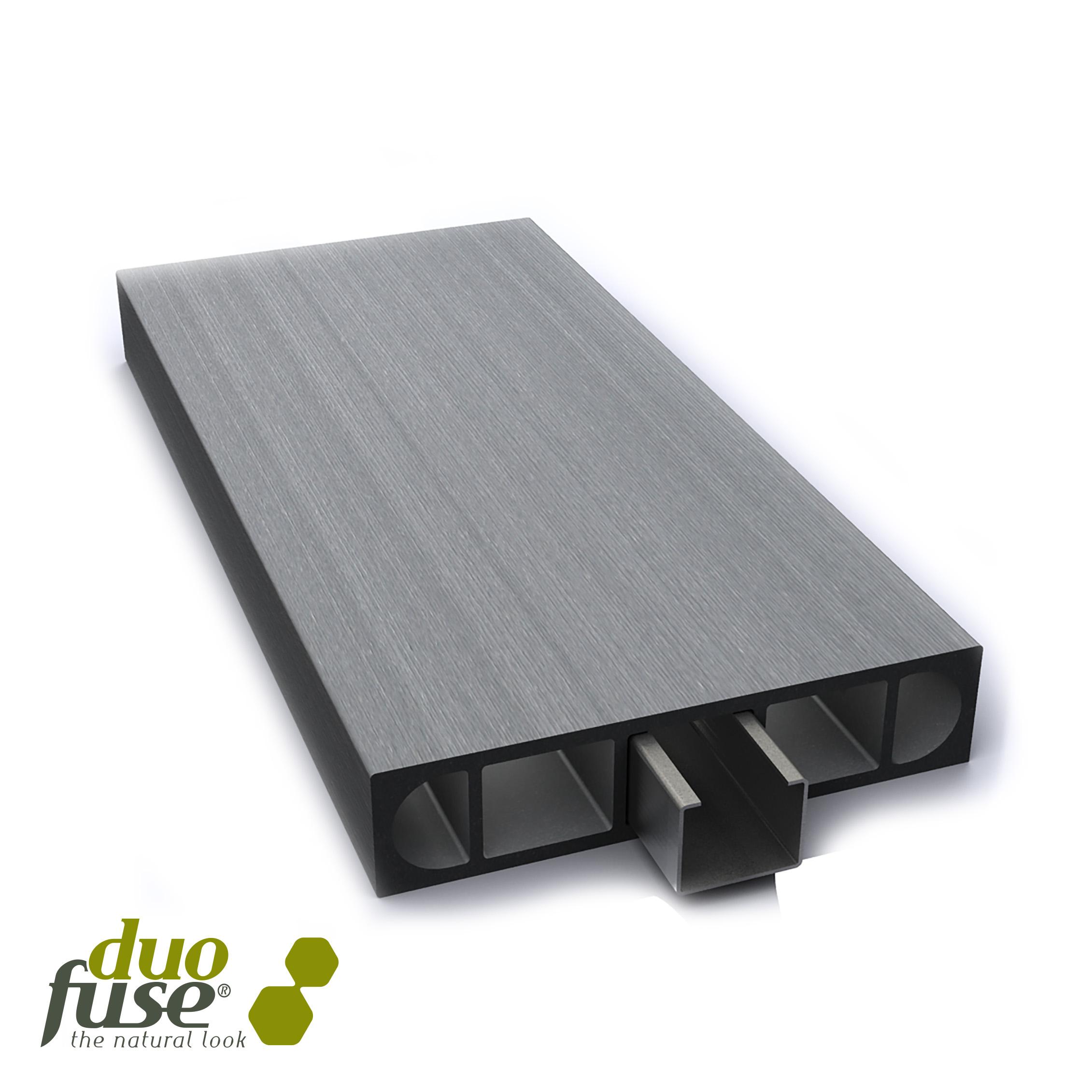 Duofuse | Omheiningplank 2,7 x 12 cm | 180cm | Silver Grey