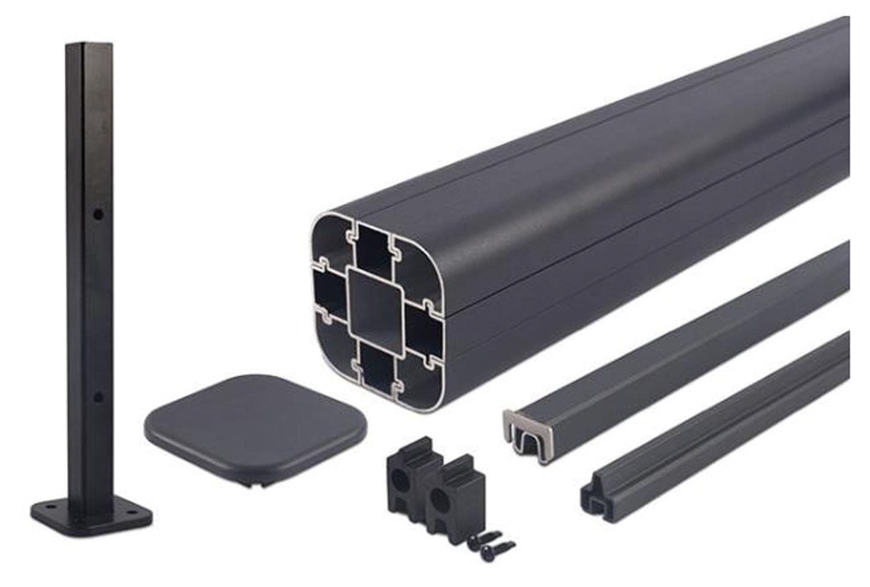 Newtechwood | Aluminium paal 190 cm | Incl. paalhouder