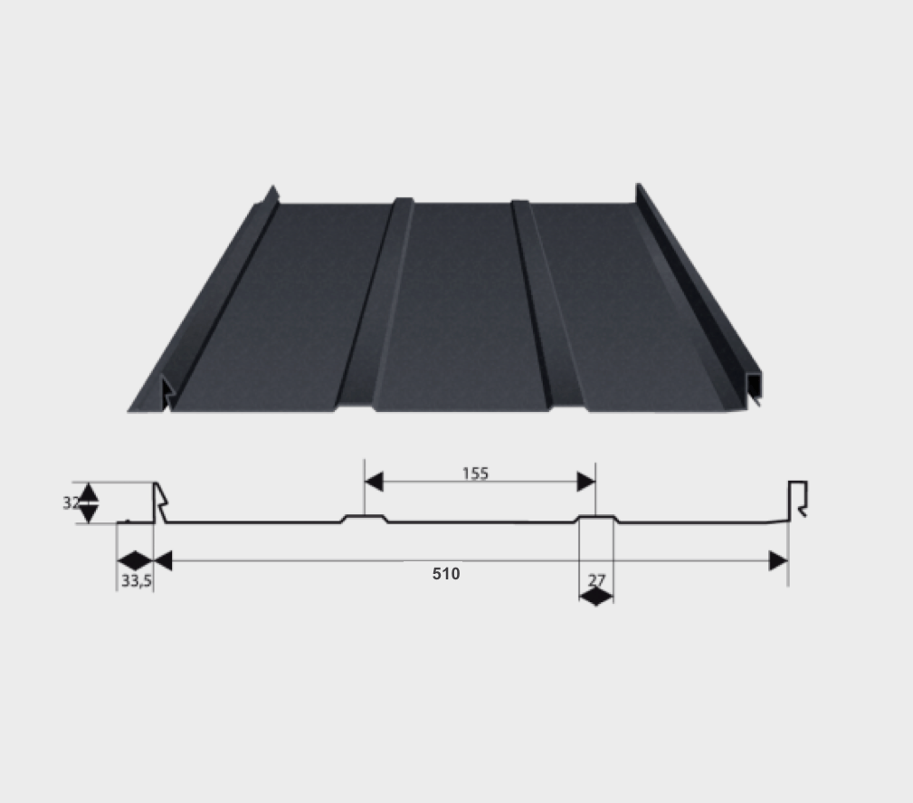 Arcelor Mittal | Damwandplaat mat | RS500 | Rood | 2850 mm