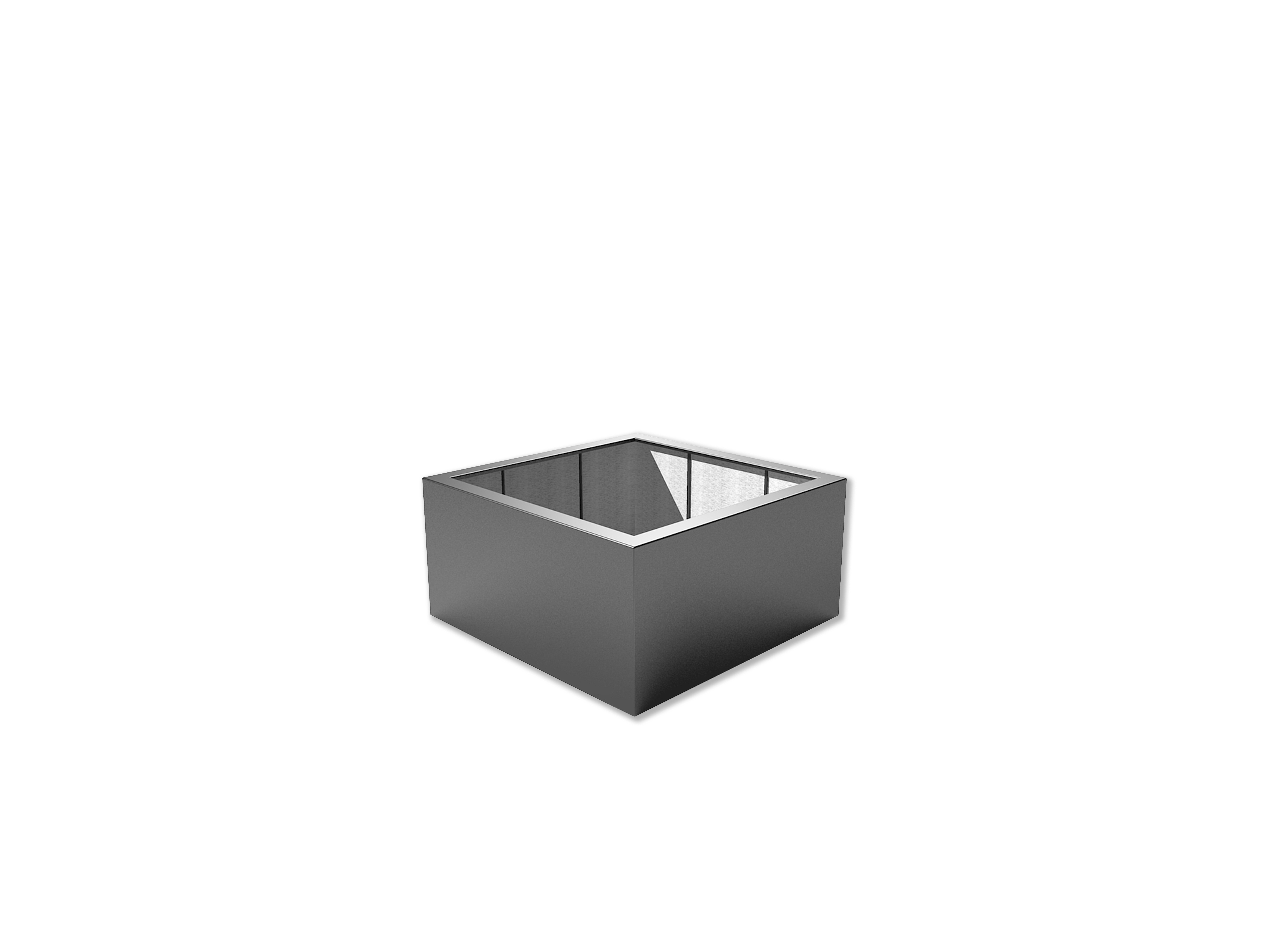 Adezz | Polyester bloembak Buxus | 120 x 120 x 60 cm | Antraciet