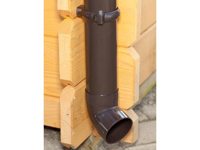 S-Lon   PVC Dakgoot Lessenaarsdak GD16   Bruin   700-875cm