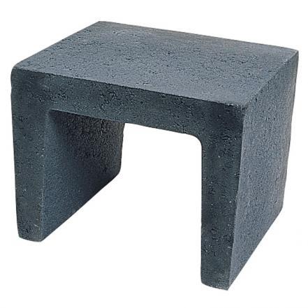Excluton | U-element 40x40x50 cm | Zwart