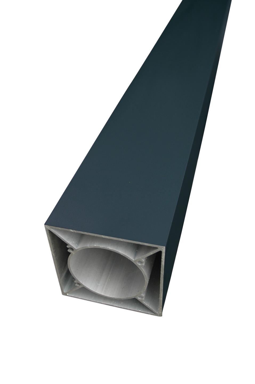 SeriAL/IdeAL   Antraciet Aluminium paal   220 cm